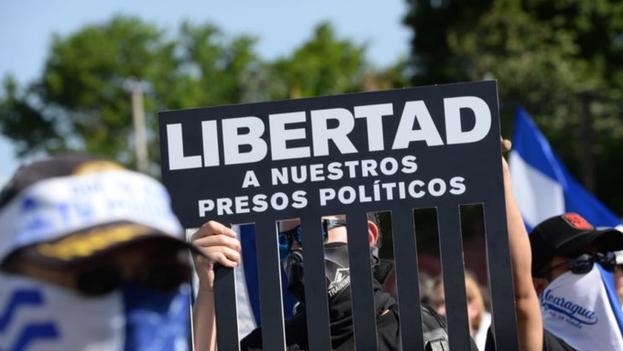 La mayor demanda de la Aliana Cívica es la liberación de los presos políticos, a los que el Gobierno de Ortega considera terroristas. (EFE)