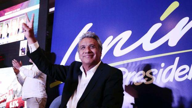 El candidato ecuatoriano del movimiento oficialista Alianza PAÍS, Lenín Moreno. (EFE)
