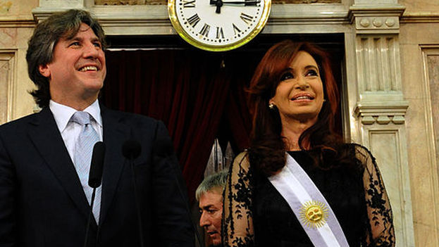 Amado Boudou y Cristina Fernández, en una imagen de 2011. (CC)