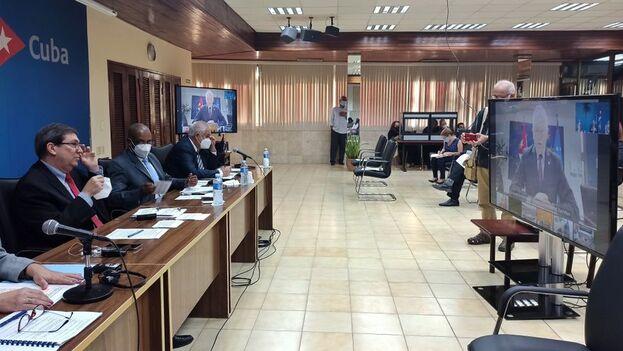 Ambas partes conversaron sobre los perjuicios provocados por el embargo económico, comercial y financiero que aplica Estados Unidos a Cuba. (EFE)