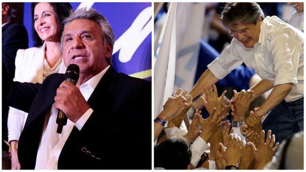 Ambos candidatos reiniciaron sus campañas electorales en Quito. (EFE)