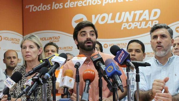 Juan Andrés Mejía explicó ayer las expectativas de su partido, Voluntad Popular, de cara a la reapertura este jueves del diálogo con el chavismo. (@VoluntadPopular)