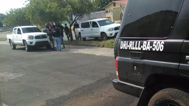 Manuel Artiles, Asciel Jiménez, Cristofer López y Gilberto Tellez fueron detenidos ayer en el operativo del Sebin, según Freddy Superlano. (@freddysuperlano)