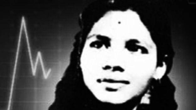 Aruna Shanbaug en una imagen de juventud