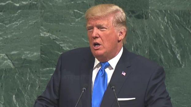 """En su discurso en la Asamblea General de la ONU, el presidente Donald Trump calificó al Gobierno de Raúl Castro de """"corrupto"""" y """"desestabilizador"""". (ONU)"""