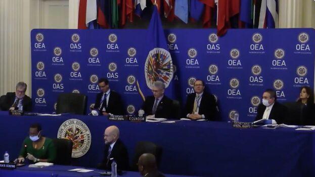 La votación, de carácter secreto, se produjo en una Asamblea General extraordinaria de la OEA. (@OEA_oficial)