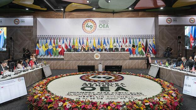La participación en la Asamblea de la delegación de Guaidó en representación de Venezuela no gustó a varios países. (Juan Manuel Herrera/OAS)