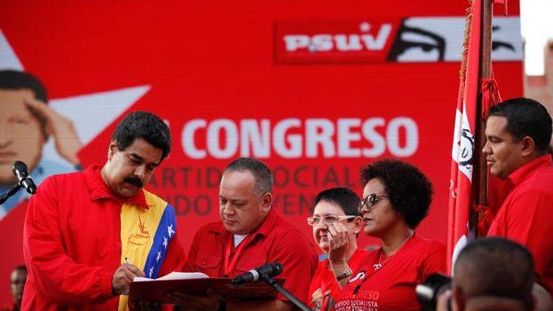 El presidente de la Asamblea Nacional de Venezuela, Diosdado Cabello, y Nicolás Maduro. (PSUV)