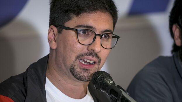 El primer vicepresidente de la Asamblea Nacional de Venezuela, Freddy Guevara, durante una rueda de prensa en Caracas en 2017. (EFE/ Miguel Gutiérrez)