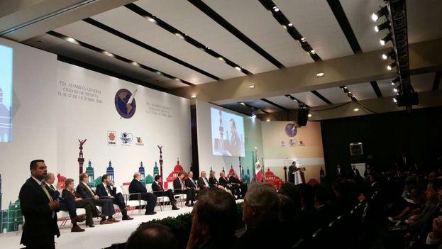 La 72 Asamblea General de la Sociedad Interamericana de Prensa (SIP) tuvo lugar en la Ciudad de México. (Twitter)