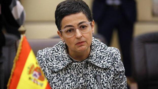 La ministra de Asuntos Exteriores de España, Arancha González Laya, mantuvo ayer una conversación telefónica con el canciller cubano. (EFE)