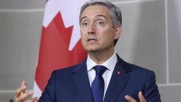 El ministro de Asuntos Exteriores de Canadá, Francois-Philippe Champagne. (EFE/EPA/Anthony Anex)
