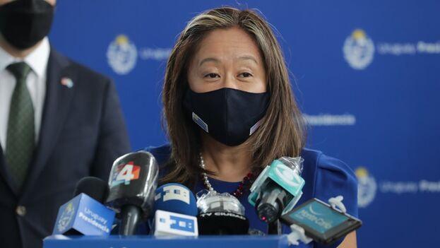 En la imagen, la subsecretaria interina para Asuntos del Hemisferio Occidental del Departamento de Estado, Julie Chung. (EFE/Raúl Martínez)