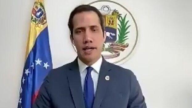 En su intervención en el Atlantic Council, Guaidó reiteró que la justicia internacional debe procesar a los responsables de los crímenes de lesa humanidad. (EFE)