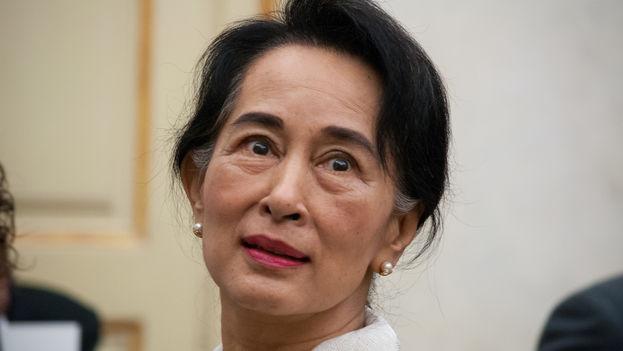 La birmana Aung San Suu Kyi, premio Nobel de la Paz (CC)
