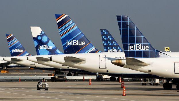 Aviones de JetBlue.