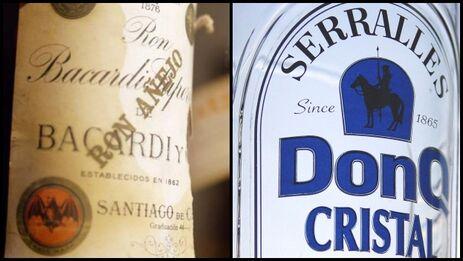 Bacardí y Serrallés producen y distribuyen alcohol o etanol con el propósito de que los usuarios desinfecten superficies. (Collage)