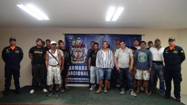 Balseros Cubanos detenidos en Colombia (Armada Nacional de Colombia)
