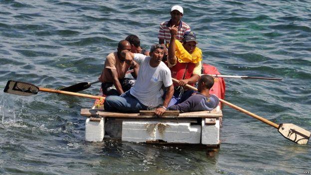 Balseros cubanos llegan a Florida/ Archivo. (EFE)
