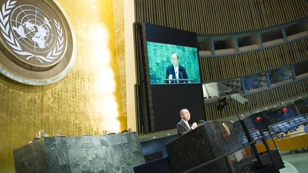 Ban se ha despedido de la Asamblea General de la ONU con su discurso más crítico. (@UN)