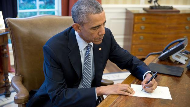 El presidente estadounidense Barack Obama envía una carta a Cuba. (Casa Blanca)