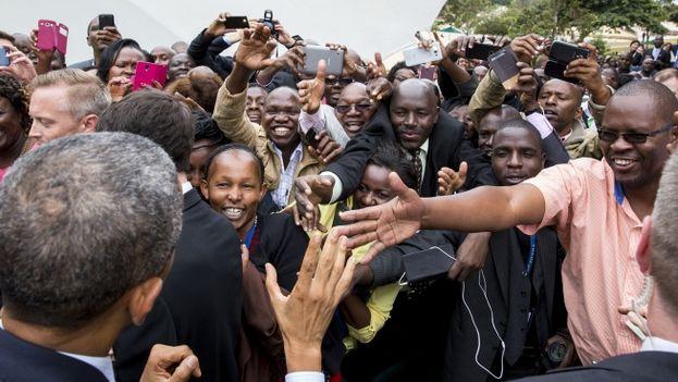 Barack Obama en Nairobi. (Casa Blanca/Pete Souza)