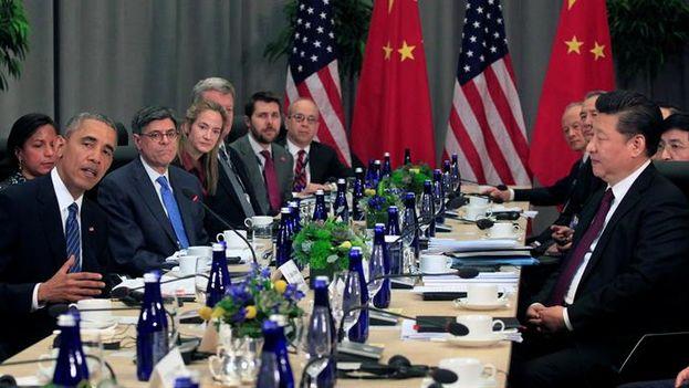 El presidente Barack Obama y Xi Jinping. (EFE)