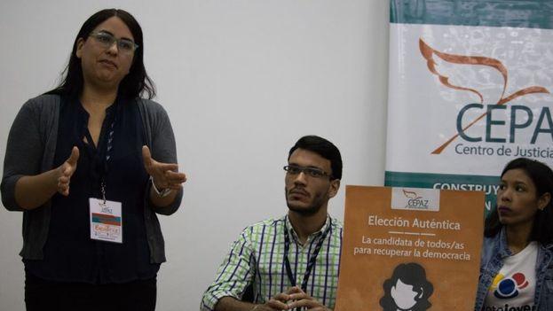 Beatriz Borges, directora del Cepaz, dijo que el acuerdo de garantías electorales es un engaño al ciudadano, pues contempla puntos que ya están establecidos en la Ley y que el CNE no ha cumplido. (CEPAZ)