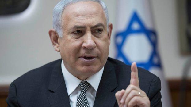 El primer ministro de Israel, Benjamín Netanyahu, en una reunión del Gobierno en Jerusalén. (Twitter)