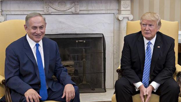 """El primer ministro israelí, Benjamín Netanyahu, opinó este miércoles que el liderazgo del presidente estadounidense, Donald Trump, permitirá que """"retroceda la oleada del Islam radical"""" en Oriente Medio.(EFE)"""
