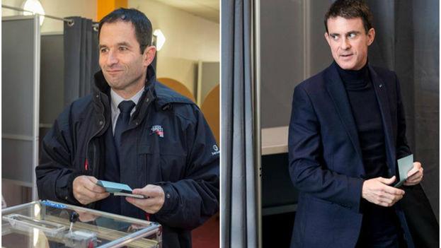 Benoît Hamon (izquierda) y Manuel Valls (derecha) se disputarán la candidatura del Partido Socialista para las presidenciales francesas. (EFE)
