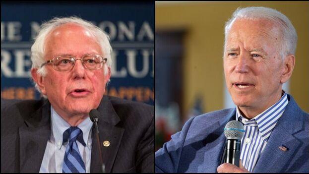 La disputa demócrata ahora es entre Bernie Sanders y Joe Biden, uno de ellos se enfrentará a Donald Trump. (Collage)