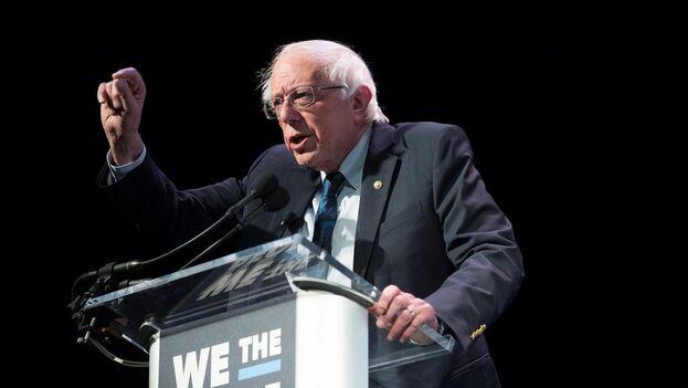 Bernie Sanders senador independiente y aspirante a la candidatura presidencial democrata de los EE UU. (EFE)