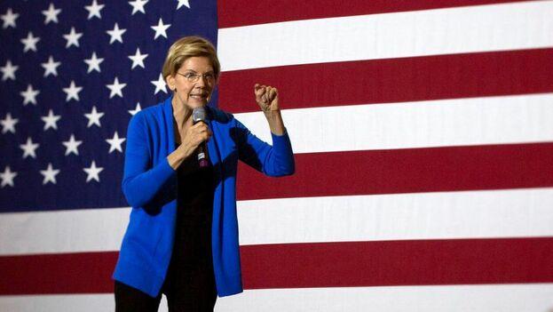 Los dos más progresistas, los senadores Bernie Sanders y Elizabeth Warren, prometieron que darán un giro de 360 grados al país. (EFE)