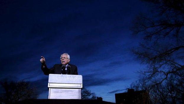 Bernie Sanders este lunes en campaña electoral. (@BernieSanders)