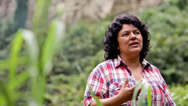 La dirigente indígena hondureña Berta Cáceres. (Goldman Environmental Prize)