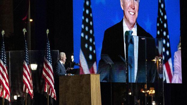 Biden compareció ante la nación para pedir a Trump que reconozca su derrota de una vez y pase página. (EFE)