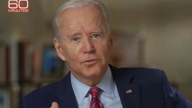Biden asistió al programa de 'CBS' 60 minutes en el que también entrevistaron a Harris. (captura)