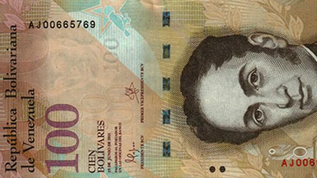 Billete de 100 bolívares de Venezuela. ( numismatica.info.ve)