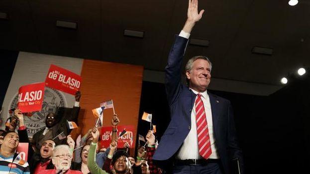 De Blasio obtuvo el 66% de los votos, frente al 28 de su rival. (@NYCMayor)