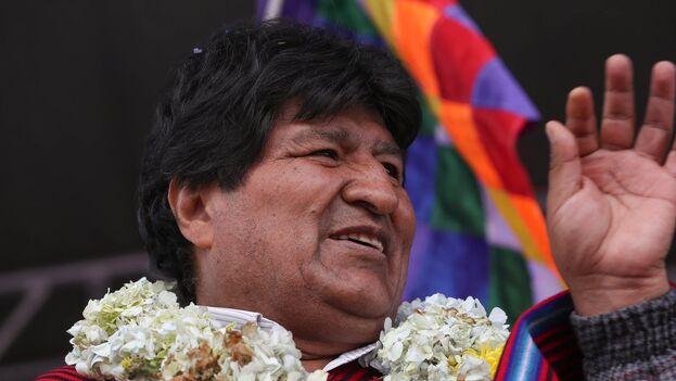 El expresidente de Bolivia Evo Morales. (EFE/Martín Alipaz/Archivo)