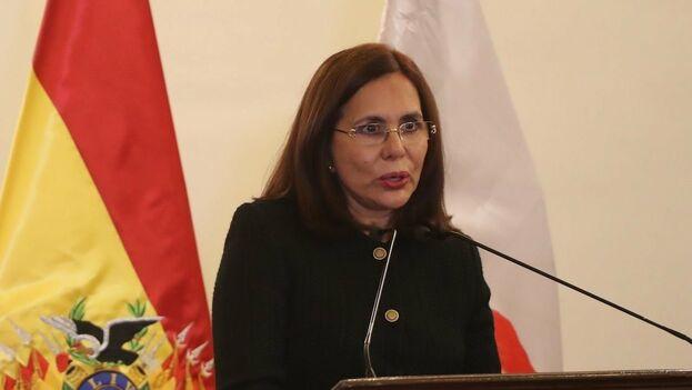 La canciller interina de Bolivia, Karen Longaric, confirmó que se decidió la salida del país de la Alianza Bolivariana para los Pueblos de Nuestra América. (EFE)