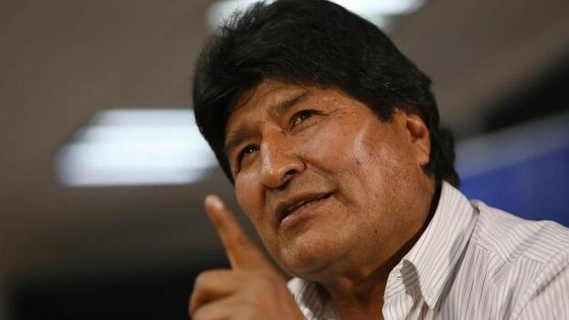 El expresidente de Bolivia, Evo Morales, durante una entrevista en Ciudad de México. (EFE)
