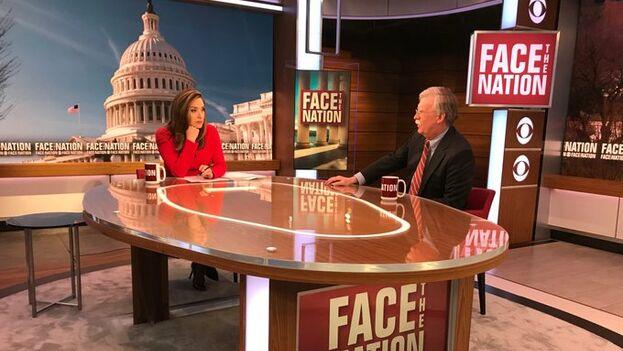 Bolton ha participado en varias entrevistas este fin de semana para explicar la postura de EE UU en Venezuela. (CBS)