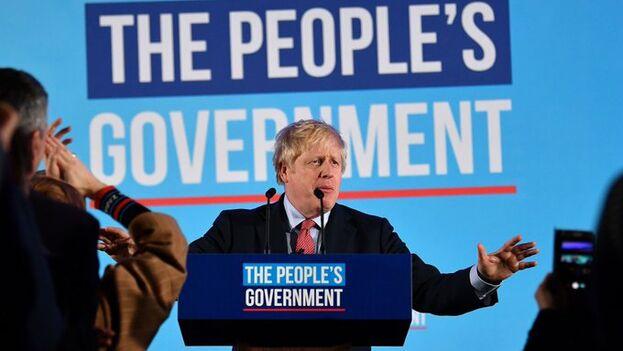 Boris Johnson prometió sacar a Reino Unido de la UE el próximo 31 de enero y, con el resultado de anoche, ya tiene los votos para llevarlo a cabo. (EFE)