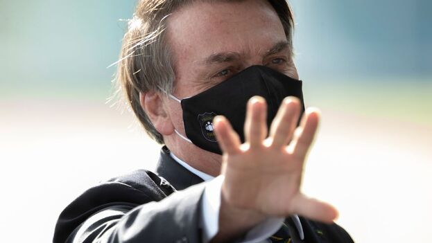 El presidente de Brasil, Jair Bolsonaro, en Brasilia (Brasil). (EFE/Joédson Alves/Archivo)