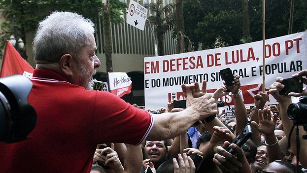 La campaña 'Un Brasil justo para todos y para Lula' fue lanzada este jueves en la Casa de Portugal, de Sao Paulo, con la presencia del exmandatario, correligionarios y líderes sociales. (Twitter)