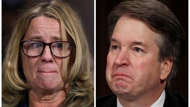 Brett Kavanaugh y Christine Blasey Ford mantuvieron este jueves sus respectivas versiones en una audiencia política.