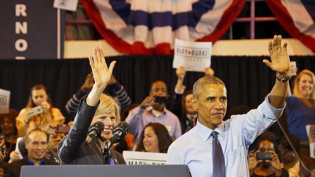 Mary Burke, que ha perdido contra su rival republicano en Wisconsin, fue una de las pocas candidatas que hizo campaña con Barack Obama. (CC/Flickr)
