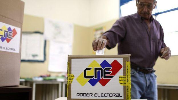 Según el CNE hubo una participación del 61,14% del padrón electoral. (@PSUV)